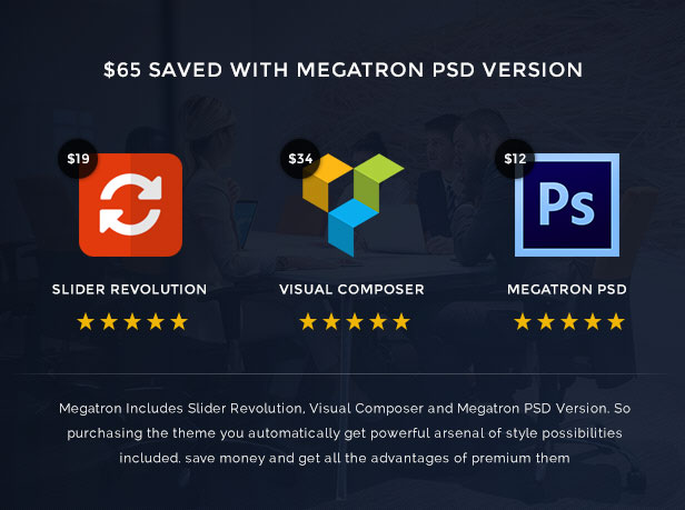 Megatron - Responsive MultiPurpose WordPress Theme - 13