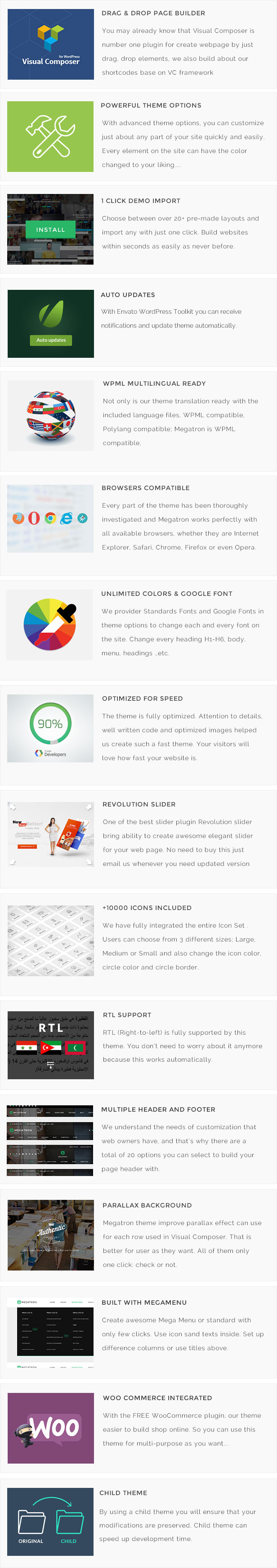 Megatron - Responsive MultiPurpose WordPress Theme - 14