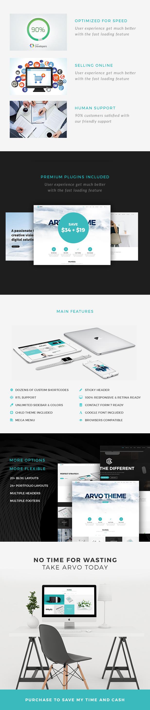 Arvo - A Clever & Flexible Multipurpose WordPress Theme - 11
