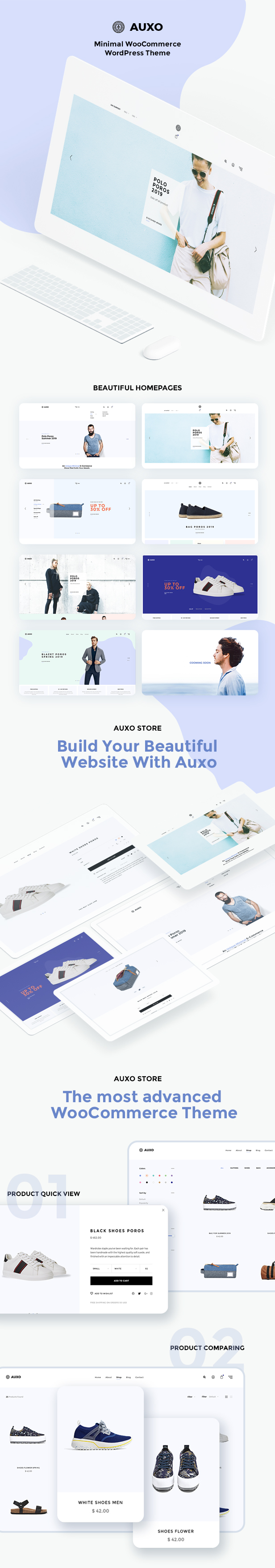 Auxo – Minimal WooCommerce Shopping WordPress Theme - 9