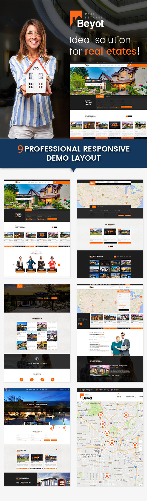 BEYOT - WordPress Real Estate Theme Download