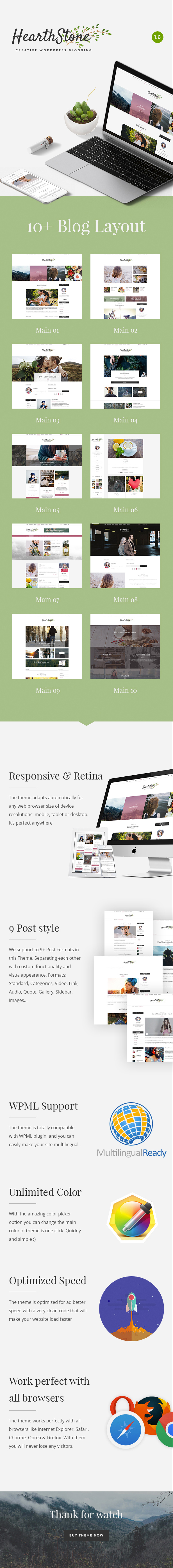 HearthStone - Responsive WordPress Blog Theme - 1