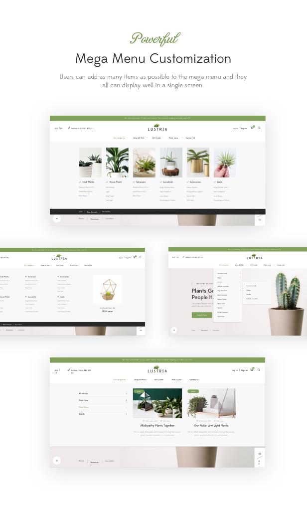 Lustria - MultiPurpose Plant Store WordPress Theme - 16