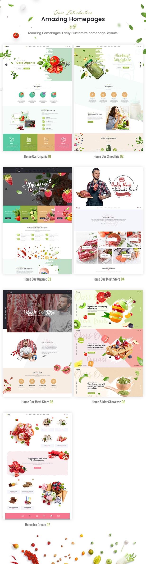 Oars - Creative Organic Store & Fresh Food WordPress Theme - 10