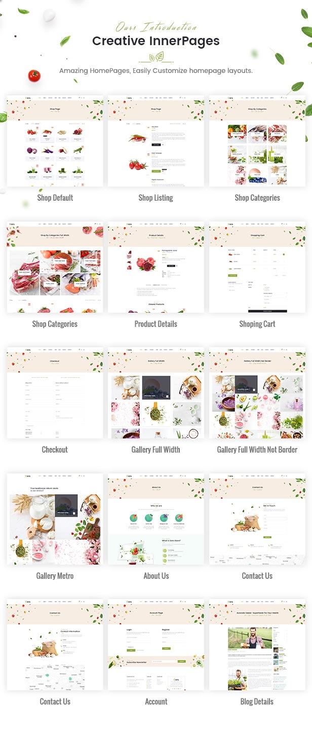 Oars - Creative Organic Store & Fresh Food WordPress Theme - 11