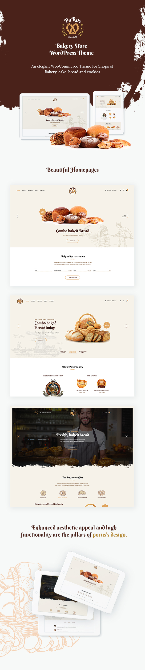 Porus - Bakery Store WordPress Theme - 9