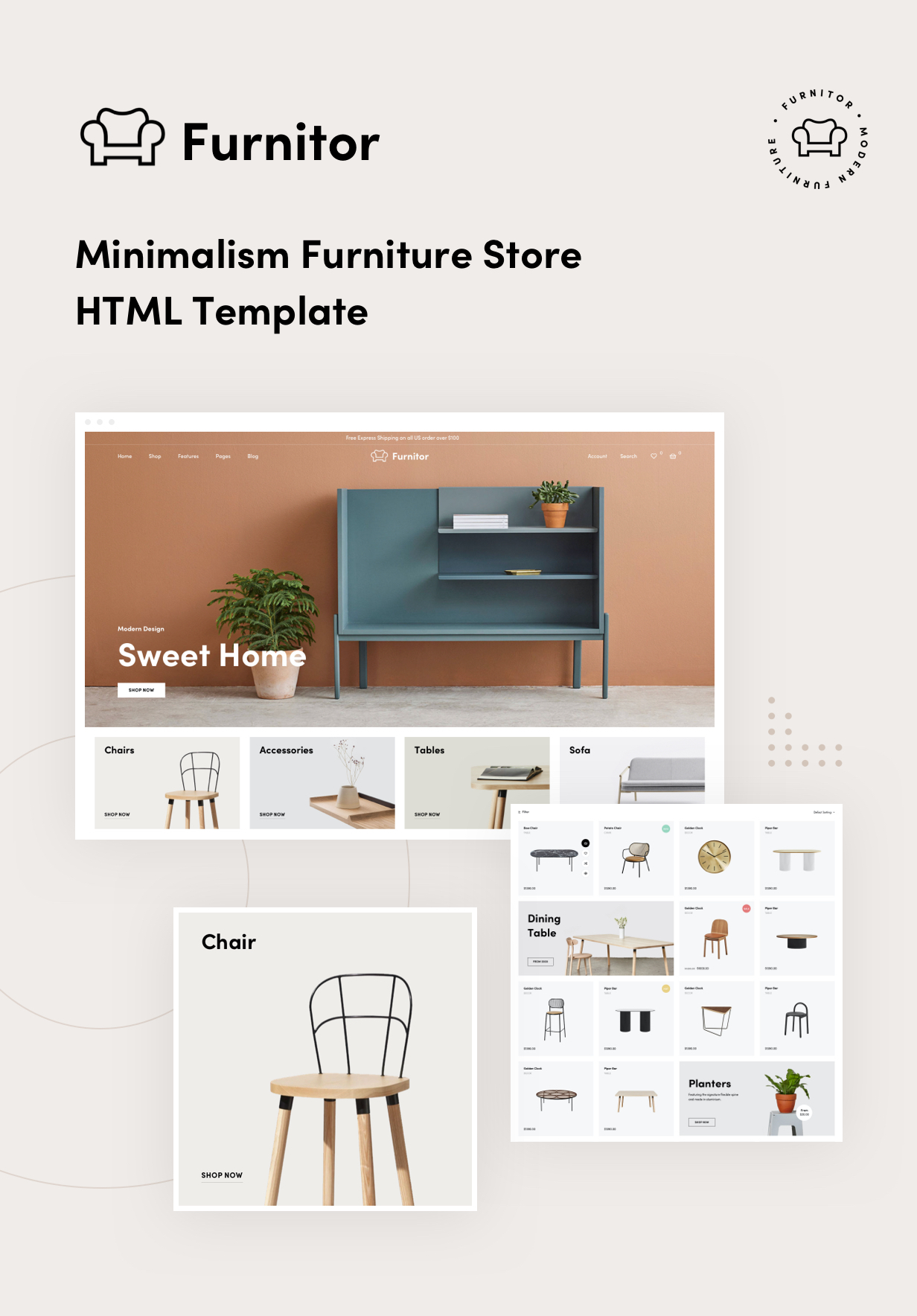 Furnitor - Minimalism Store HTML Template