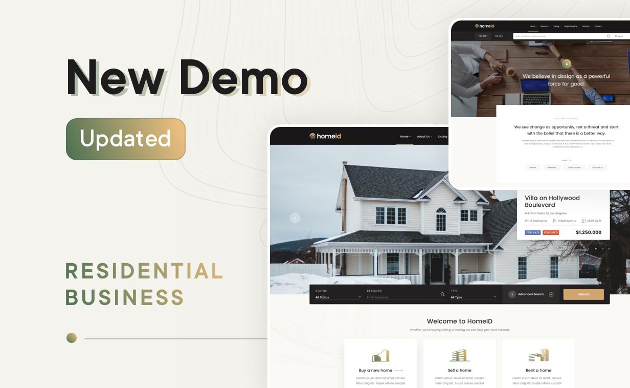 HomeID – Real Estate WordPress Theme, Gobase64