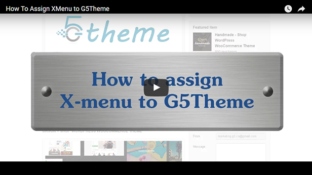 Assign XMenu to your theme