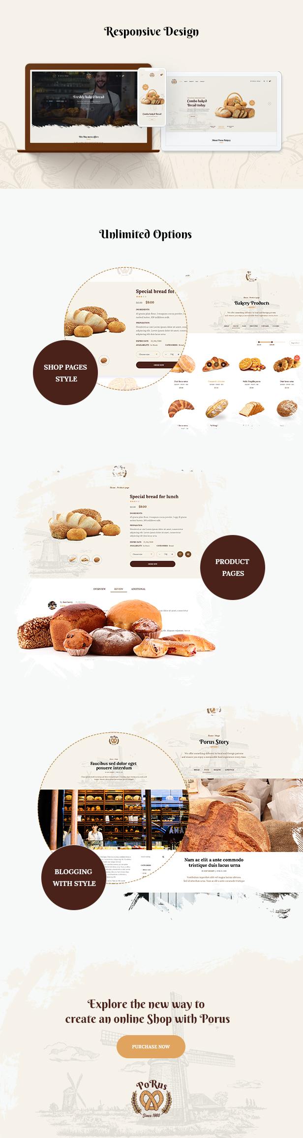 Porus - Bakery Store WordPress Theme - 10