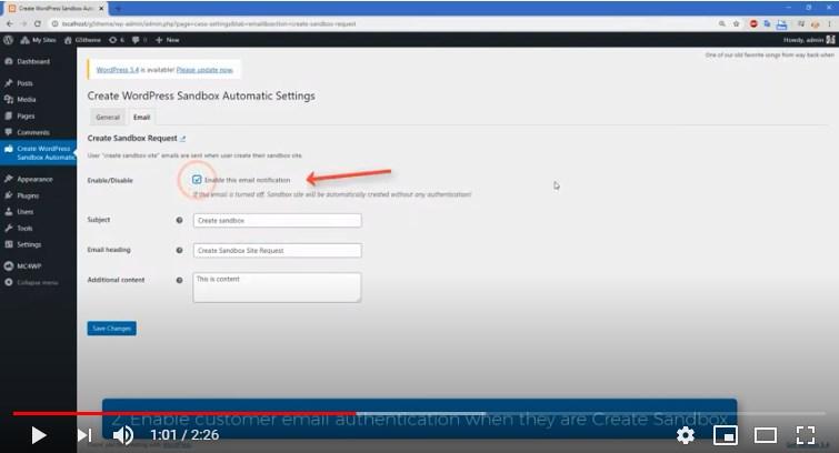 How to use clone website with plugin WordPress Sandbox